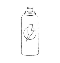 Sports bottle with lightning icon image vector