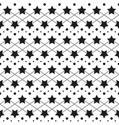 Star monochrome seamless texture vector image vector image