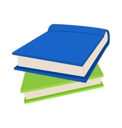 Two books icon in cartoon style vector image vector image
