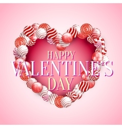 Valentine Day Lollipop vector image vector image