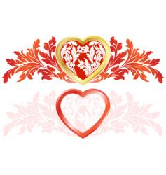 valentines labels vector image vector image