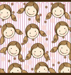 Woman with hairstyle background icon vector