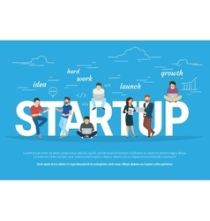 Project startup concept of business vector image