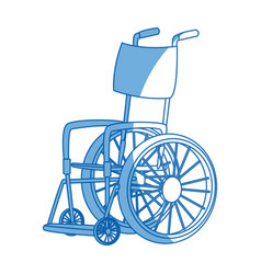Disabled wheelchair handicap medical equipment vector