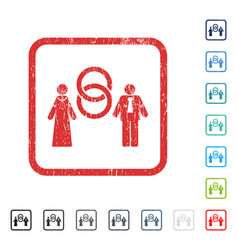 Marriage persons icon rubber watermark vector