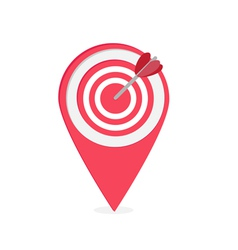 Map pointer with target and heart arrow vector image