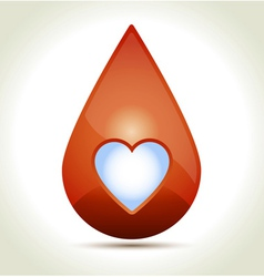 Drop of Blood vector image