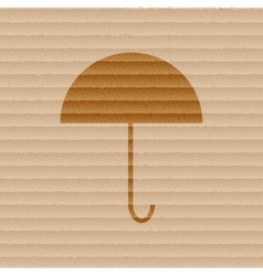 Umbrella flat modern web button and space for your vector