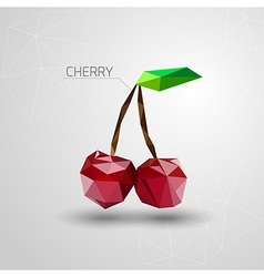 Bright cherry polygon vector