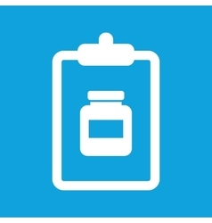 Medicine prescription icon simple vector