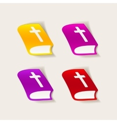 Realistic design element bible vector