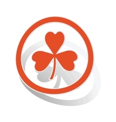 Clover sign sticker orange vector