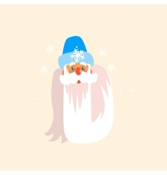 Father frost christmas portrait vector