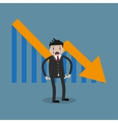 businessman arrow pointing vector image