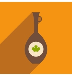 Flat icon with long shadow canadian jar vector