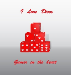 Dices heart vector