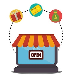 Shopping sales and ecommerce vector image
