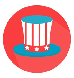 Uncle sam hat 4th of july flat style vector
