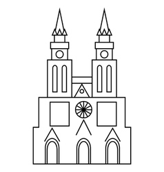 Basilica of our lady of lujan icon outline style vector