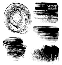Abstract black brush strokes on white background vector image vector image