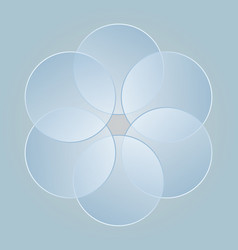 Abstract blue circles collected flower petals vector