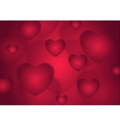 Abstract red valentines day hearts background vector
