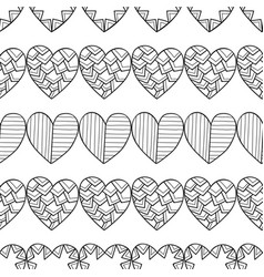 black and white seamless pattern with decorative vector image vector image