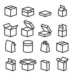 Box icons vector