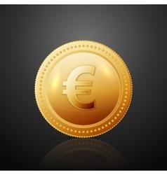 Coin euro vector image vector image