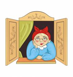 cute grandma vector image vector image