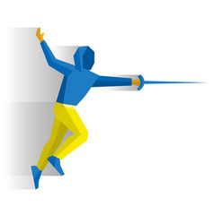 fencer with a sword or rapier vector image