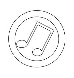 figure symbol music sign icon vector image