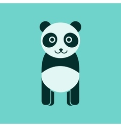 Flat icon stylish background panda bear vector