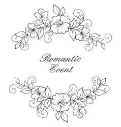 Flower ornament frame vector image