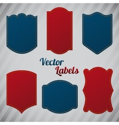 Grunge denim labels vector