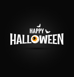 happy halloween logo design background vector image vector image