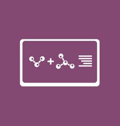 Icon molecules plus atoms vector