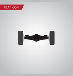 isolated automobile axis flat icon suspension vector image