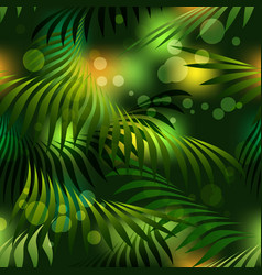 jungle rain forest seamless pattern vector image vector image