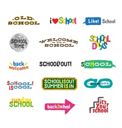 Label - School Icons vector image vector image