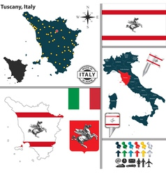 Map of tuscany vector
