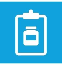 Medicine prescription icon simple vector