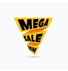 Mega sale design template creative banner vector