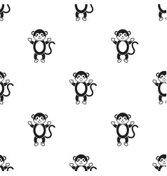 Monkey black icon for web and mobile vector