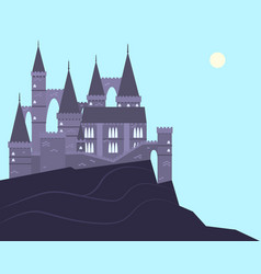 Old castle on the mountain vector
