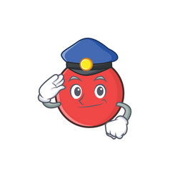 Police bowling ball character cartoon vector