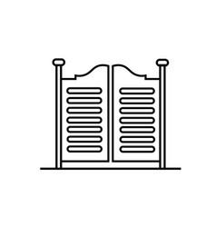 saloon doors vector image