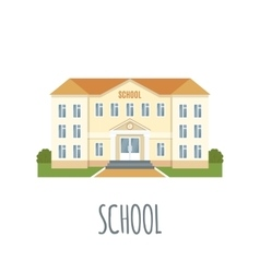 School Icon on white background vector image vector image