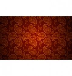 seamless paisley wallpaper vector image vector image