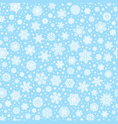 seamless pattern with white snowflakes vector image vector image